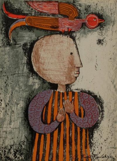 Enfant avec un oiseau I-Graciela Rodo Boulanger-Collectable Print