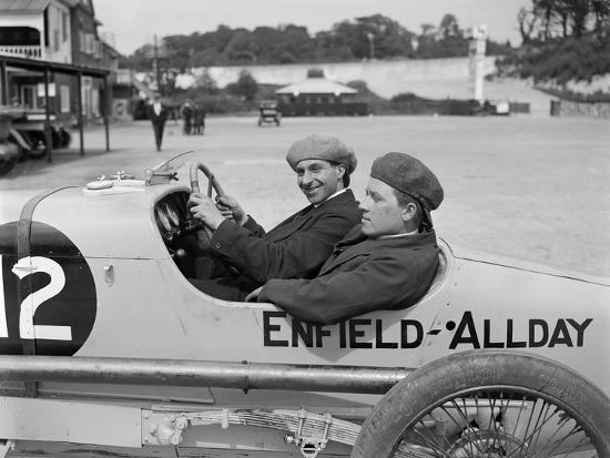 Enfield-Allday of Woolf Barnato at the JCC 200 Mile Race, Brooklands, 1922-Bill Brunell-Photographic Print