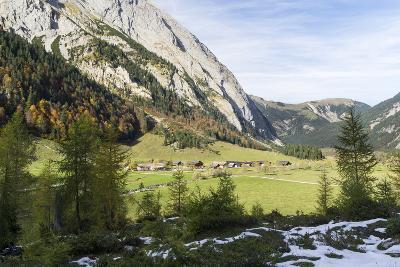 Eng Valley in Late Autumn, Karwendel Mountais, Tyrol, Austria-Martin Zwick-Photographic Print