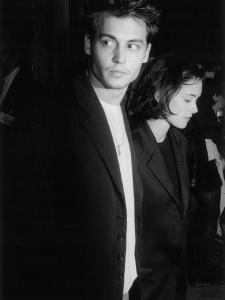 """Engaged Actors Johnny Depp and Winona Ryder Attending Premier of the Film """"Pacific Heights"""""""