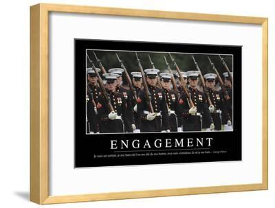 Engagement: Citation Et Affiche D'Inspiration Et Motivation