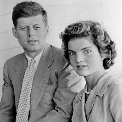 Engagement Portrait of John Kennedy and Jacqueline Bouvier--Photo