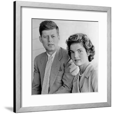 Engagement Portrait of John Kennedy and Jacqueline Bouvier