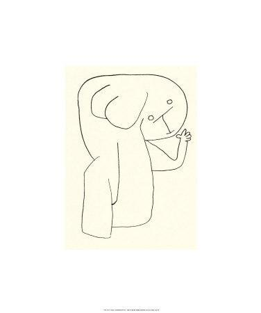Engel im Kingergarten, c.1939-Paul Klee-Serigraph