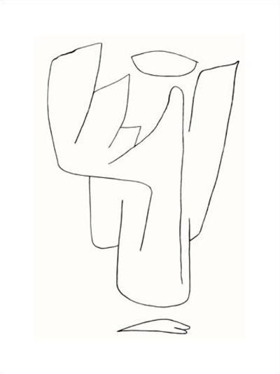Engelsam, c.1939-Paul Klee-Serigraph