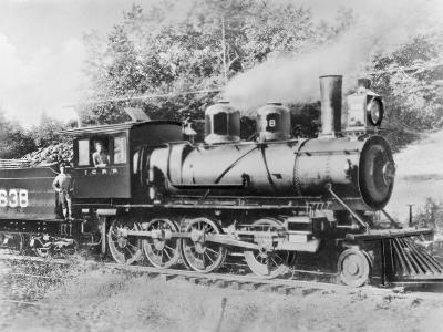 Engineer Casey Jones on Engine No. 638-J.E. France-Photographic Print