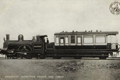 Engineer's Inspection Engine and Coach--Photographic Print