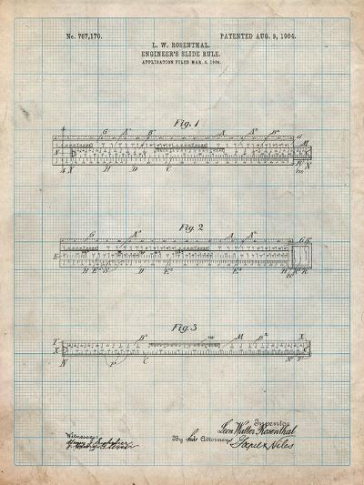 Engineer's Slide Rule Patent-Cole Borders-Art Print
