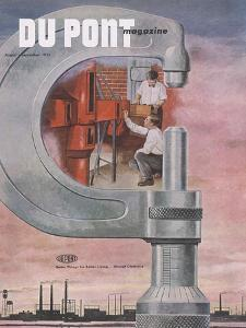 Engineering Research, Front Cover of the 'Dupont Magazine', August-September 1953