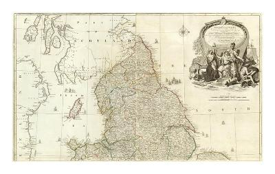 England and Wales (Northern section), c.1790-John Rocque-Art Print