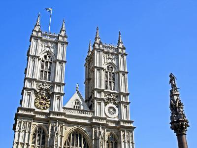 England, Central London, City of Westminster. Western Facade of Westminster Abbey-Pamela Amedzro-Photographic Print