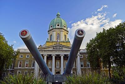 England, London Borough of Lambeth, Kennington. Cannon Outside the The Imperial War Museum-Pamela Amedzro-Photographic Print