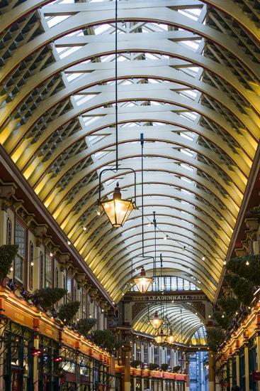 England, London, City, Leadenhall Market, Interior-Walter Bibikow-Photographic Print