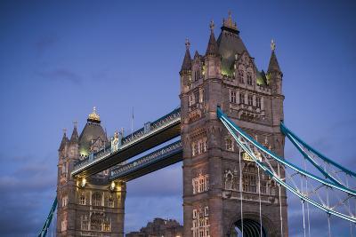 England, London, Tower Bridge, Dusk-Walter Bibikow-Photographic Print