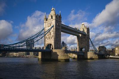 England, London, Tower Bridge, Late Afternoon-Walter Bibikow-Photographic Print