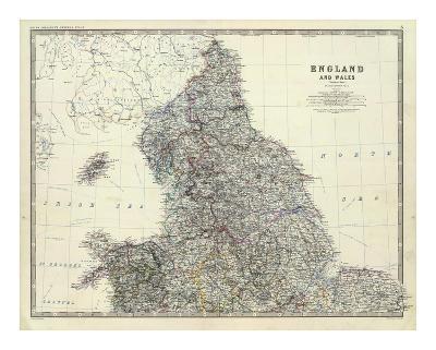 England, North Wales, c.1861-Alexander Keith Johnston-Art Print
