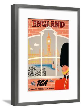England - Queen's Guard, Big Ben, Parliament Building and the Thames River - Fly TCA-Jacques Le Flaguais-Framed Art Print