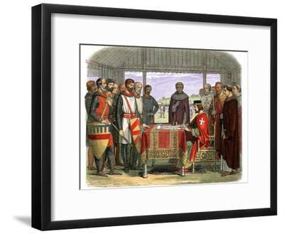 England's King John Signing Magna Carta at Runnymede--Framed Photographic Print