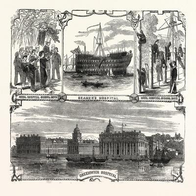 England's Refuge for the Defenders of Her Wooden Walls. Greenwich Hospital. London, Uk--Giclee Print