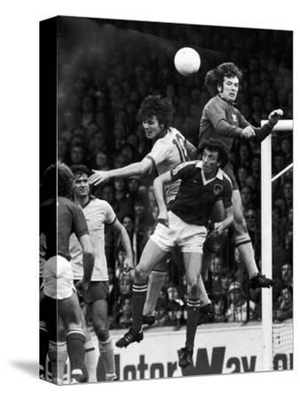 England: Soccer Match, 1977--Stretched Canvas Print