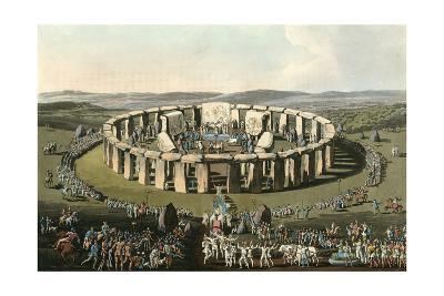 England Stonehenge-Charles Hamilton Smith-Giclee Print