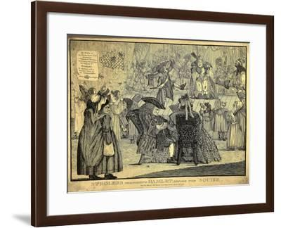 England, Strollers Performing Hamlet before the Squire, April 18, 1772, Caricature--Framed Giclee Print