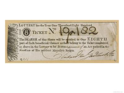 England Tickets for the State Lottery at the Guildhall London--Giclee Print