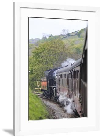 England, West Yorkshire. Keighley and Worth Valley Railway, steam trains, 5-miles up Worth Valley t-Emily Wilson-Framed Photographic Print