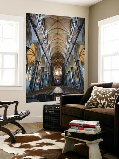 England, Wiltshire, Salisbury Cathedral, the Nave Roof-Steve Vidler-Wall Mural