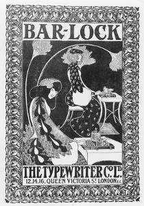 Advertisement for Bar-Lock Typewriters, C.1895 (Litho) by English
