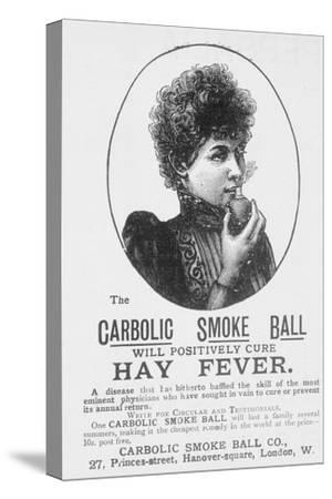 Advertisement for the Carbolic Smoke Ball, a Cure for Hay Fever (Print)