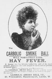 Advertisement for the Carbolic Smoke Ball, a Cure for Hay Fever (Print) by English