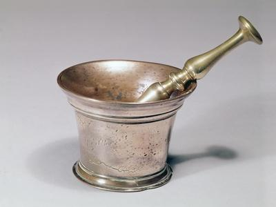 Apothecary's Pestle and Mortar, Early 18th Century (Brass and Copper)