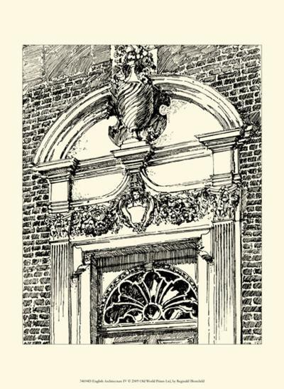 English Architecture IV-Reginald Blomfield-Art Print