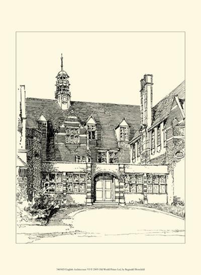 English Architecture VI-Reginald Blomfield-Art Print
