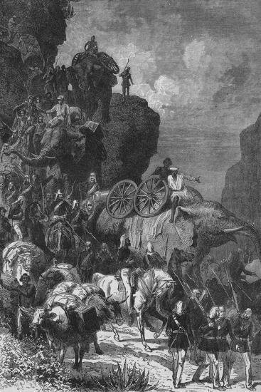 'English Army on the March in Abyssinia', c1880-Unknown-Giclee Print