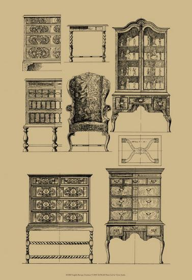 English Baroque Furniture--Art Print