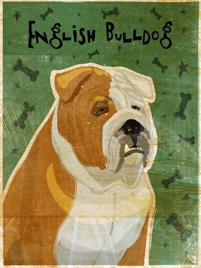 English Bulldog Tan and White-John W Golden-Giclee Print