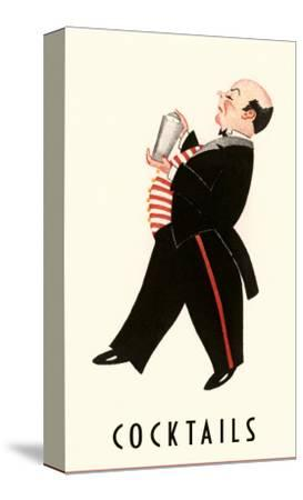 English Butler with Martini Shaker