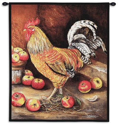 English Cockerel-Alexandra Churchill-Wall Tapestry