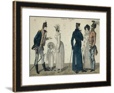 English Costumes--Framed Giclee Print