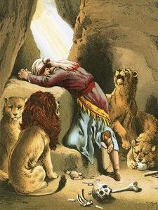 Daniel in the Lion's Den by English