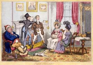 English Fireside, Pub. J. Lepetit, Dublin, C.1820