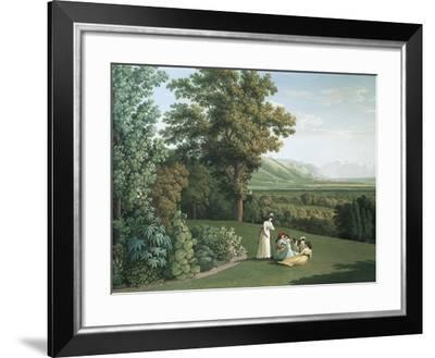 English Garden at Palace of Caserta-Jacob Philipp Hackert-Framed Giclee Print