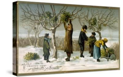 Gathering Mistletoe (Colour Litho)