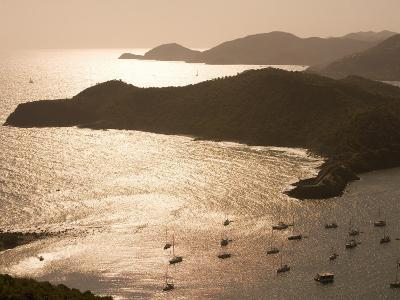 English Harbour at Sunset from Shirley Heights, English Harbour, Antigua & Barbuda-Holger Leue-Photographic Print