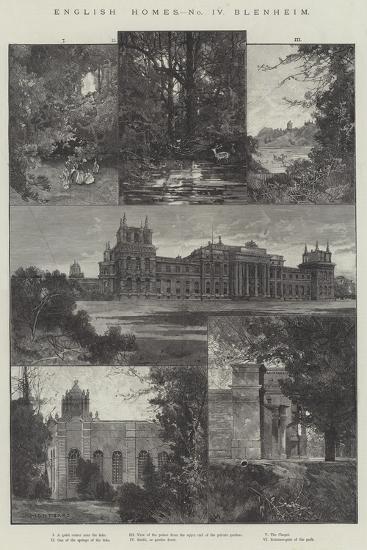 English Home, Blenheim-Charles Auguste Loye-Giclee Print
