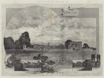 English Homes, Bowood-Charles Auguste Loye-Giclee Print