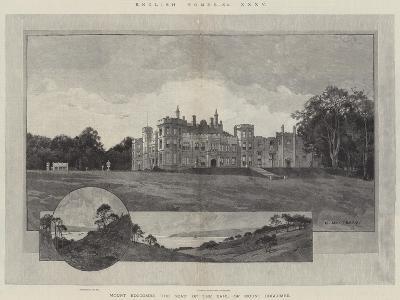 English Homes, Mount Edgcumbe, the Seat of the Earl of Mount Edgcumbe-Charles Auguste Loye-Giclee Print
