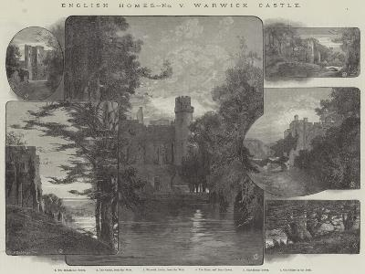 English Homes, Warwick Castle-Charles Auguste Loye-Giclee Print